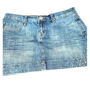 Jean Skirt with sparkles by Vanilla